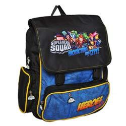... super hero squad hulk iron man thor wolverine cyclope sac a dos sac