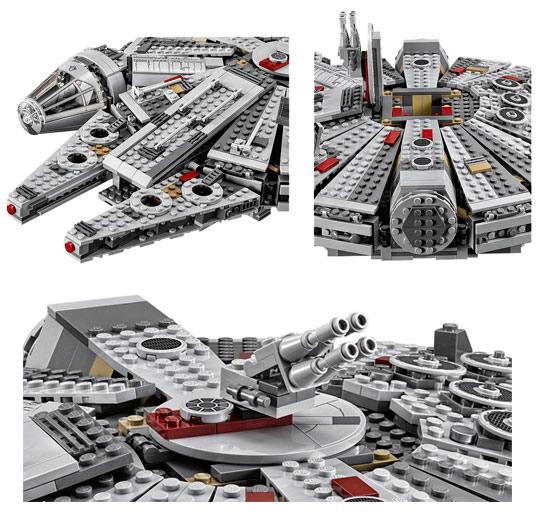 Millennium falcon lego 75105 - Stars wars vaisseau ...