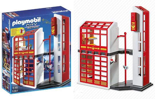 5361 caserne de pompiers avec alarme de playmobil. Black Bedroom Furniture Sets. Home Design Ideas