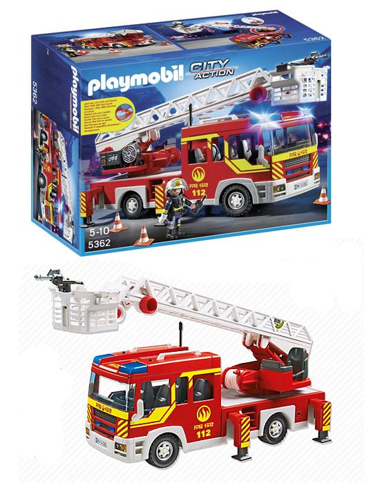 Acheter Playmobil 5362 Camion de pompier avec échelle pivotante et sirène