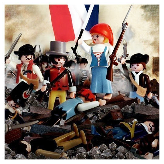 History & The Arts : Delacroix Playmobil-la-liberte-guidant-le-peuple