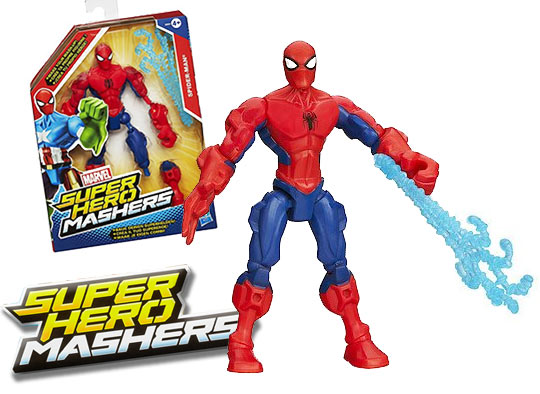 Avengers Figurine Hero Mashers Spiderman Hasbro : King Jouet, Héros & univers