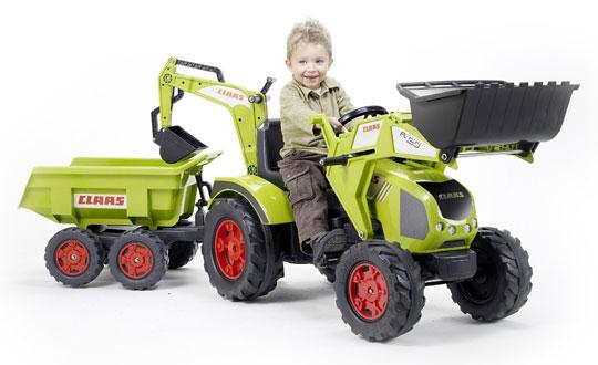 Tracteur a p dales falk claas axos pelle excavatrice - Remorque tracteur enfant ...
