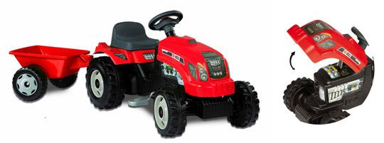 tracteur pedales pour enfants. Black Bedroom Furniture Sets. Home Design Ideas